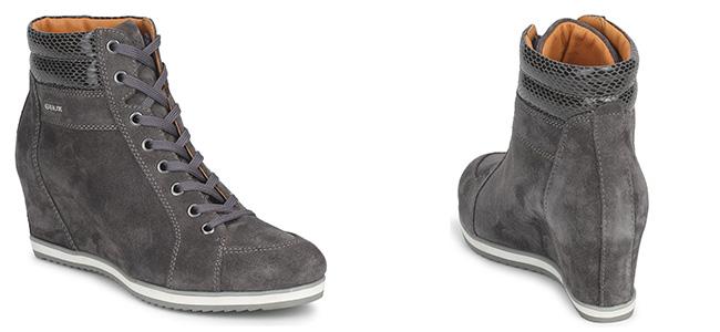 Per l inverno 2013  14 Geox si ispira alle tendenze più diffuse nelle  ultime stagioni e propone una sneakers con zeppa che farà breccia nel cuore  delle ... f018842e80d